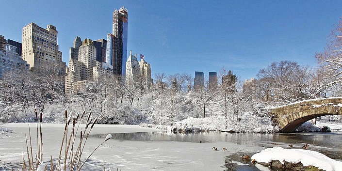 winter new york